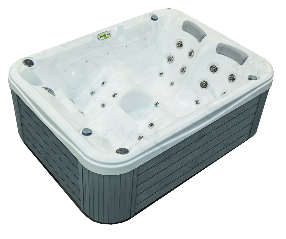 Grey compact hot tub