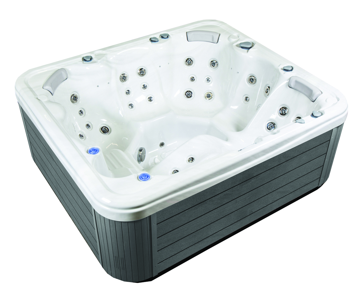 Grey luxury hot tub