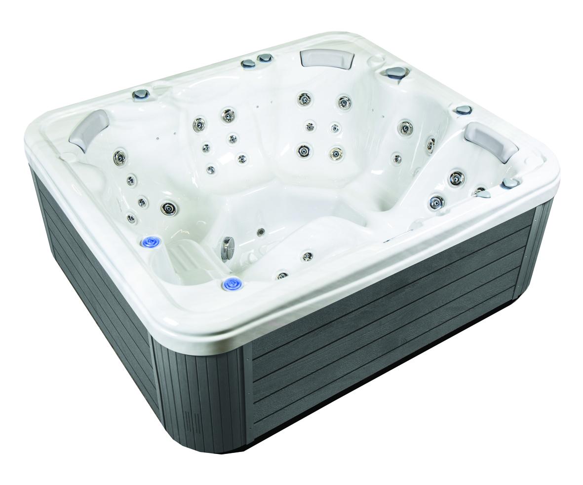 Grey home hot tub