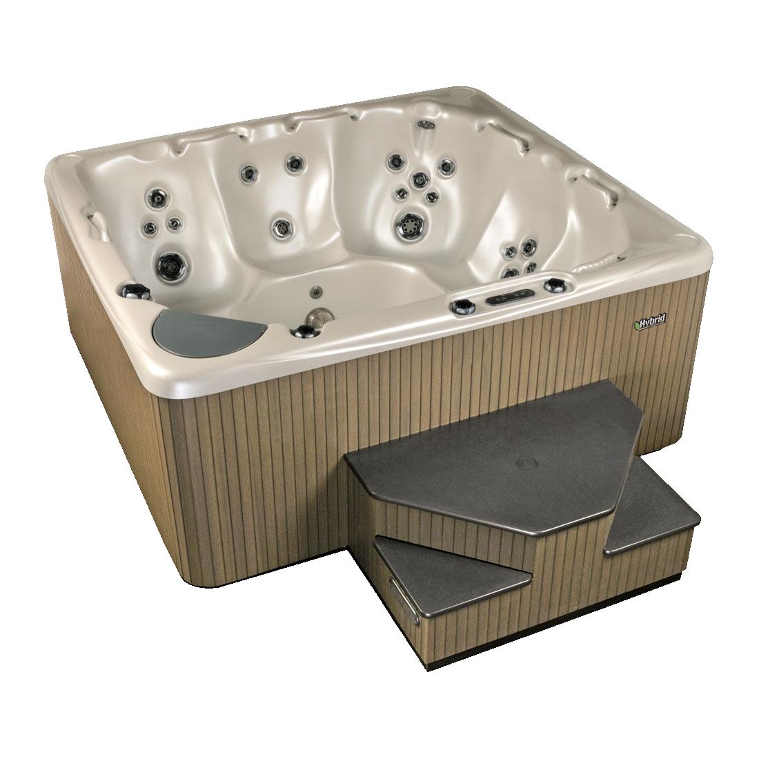 Large steel hot tub