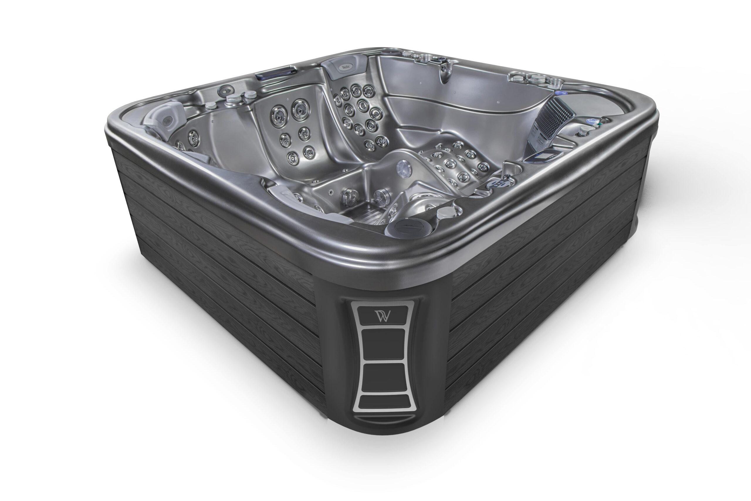 Dark grey luxury hot tub