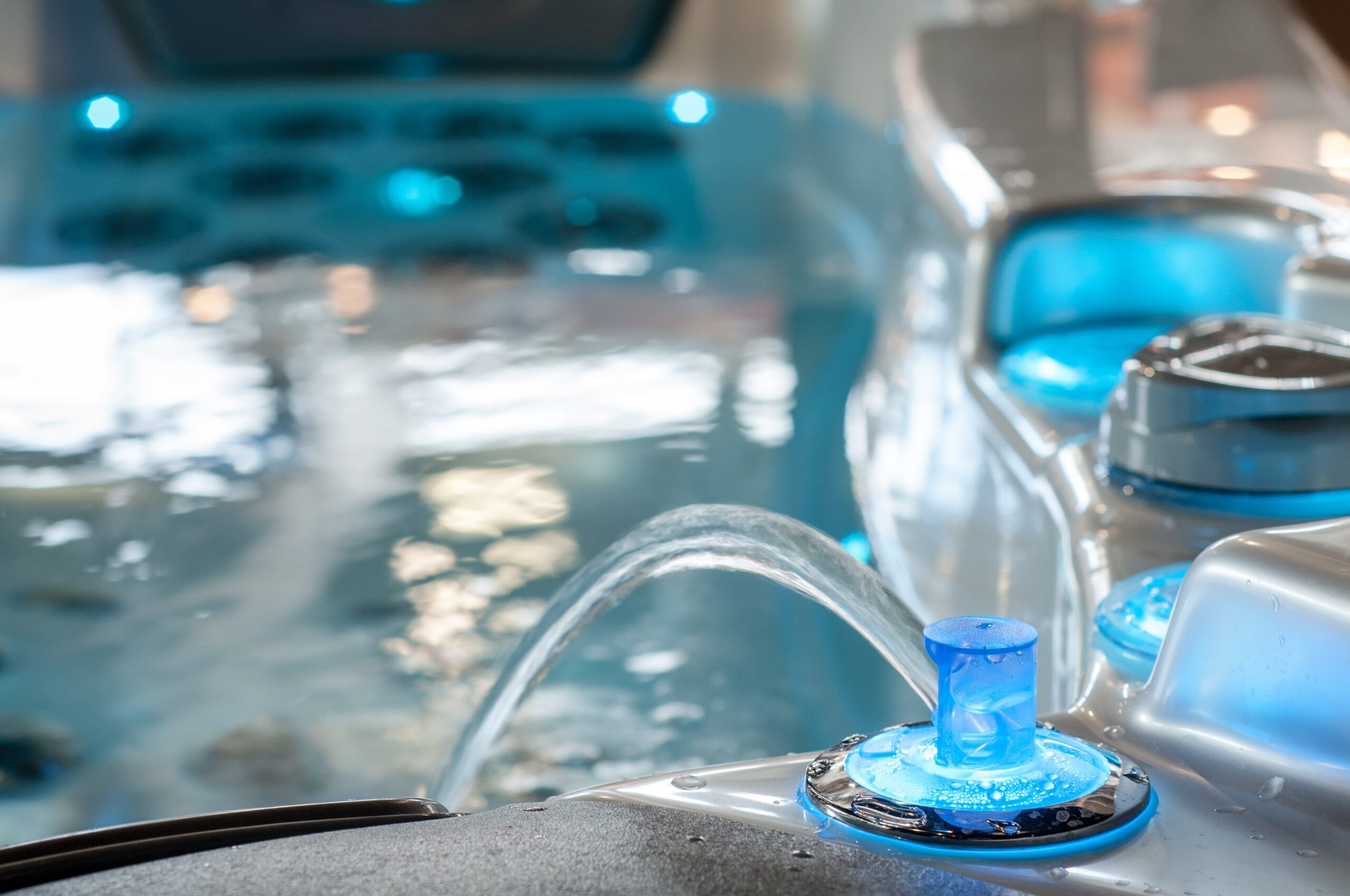 Hot tub fountain jet