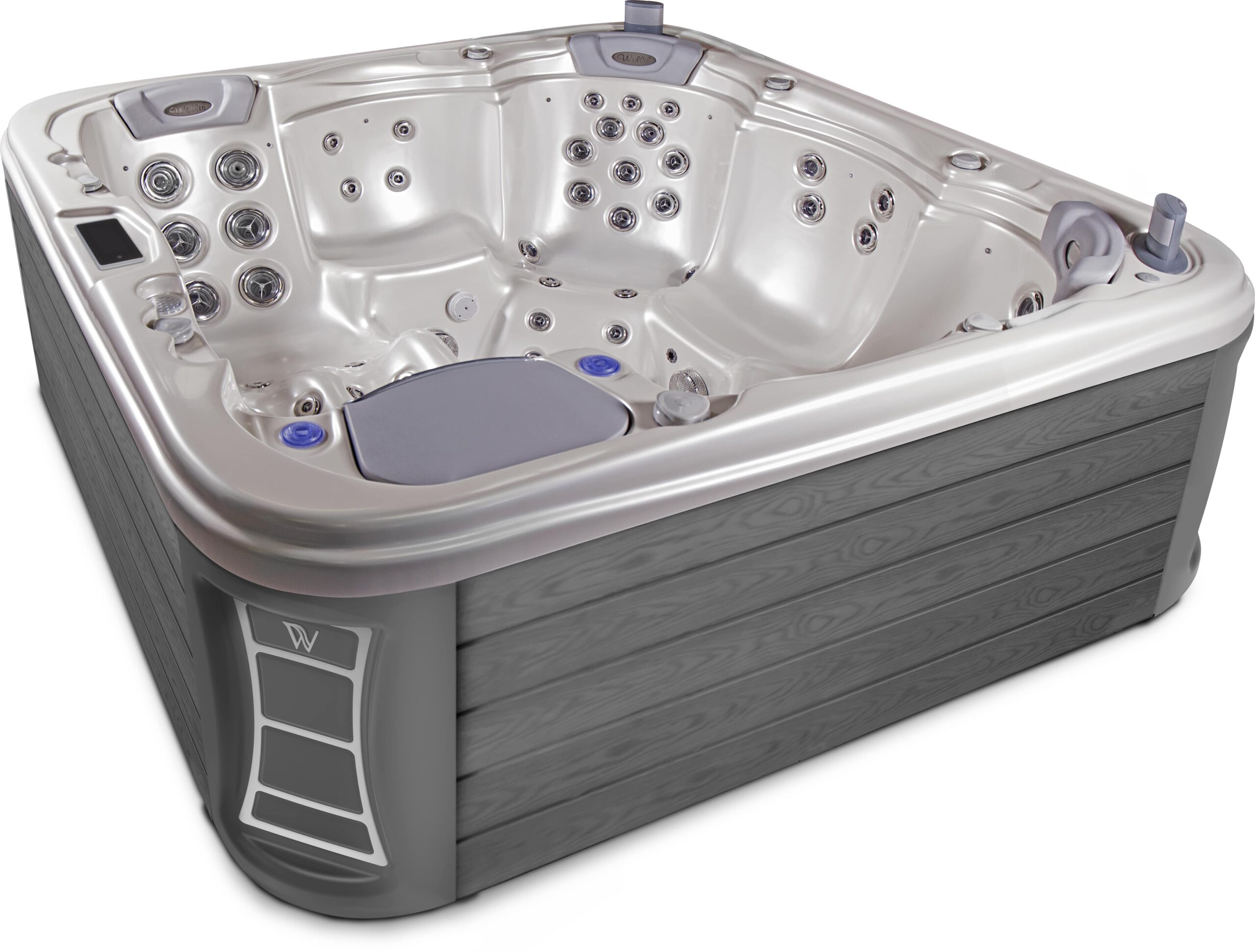 Large hydrotherapy hot tub
